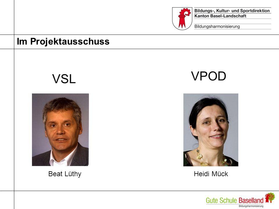 Im Projektausschuss VSL VPOD Beat Lüthy Heidi Mück