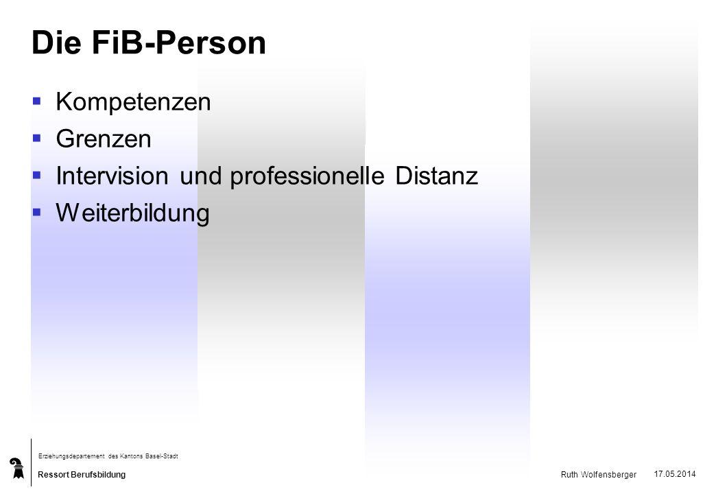 Die FiB-Person Kompetenzen Grenzen