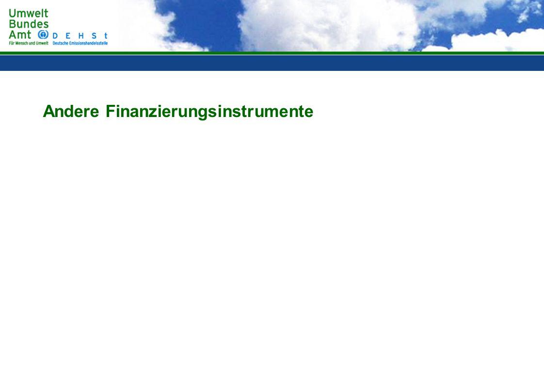 Andere Finanzierungsinstrumente