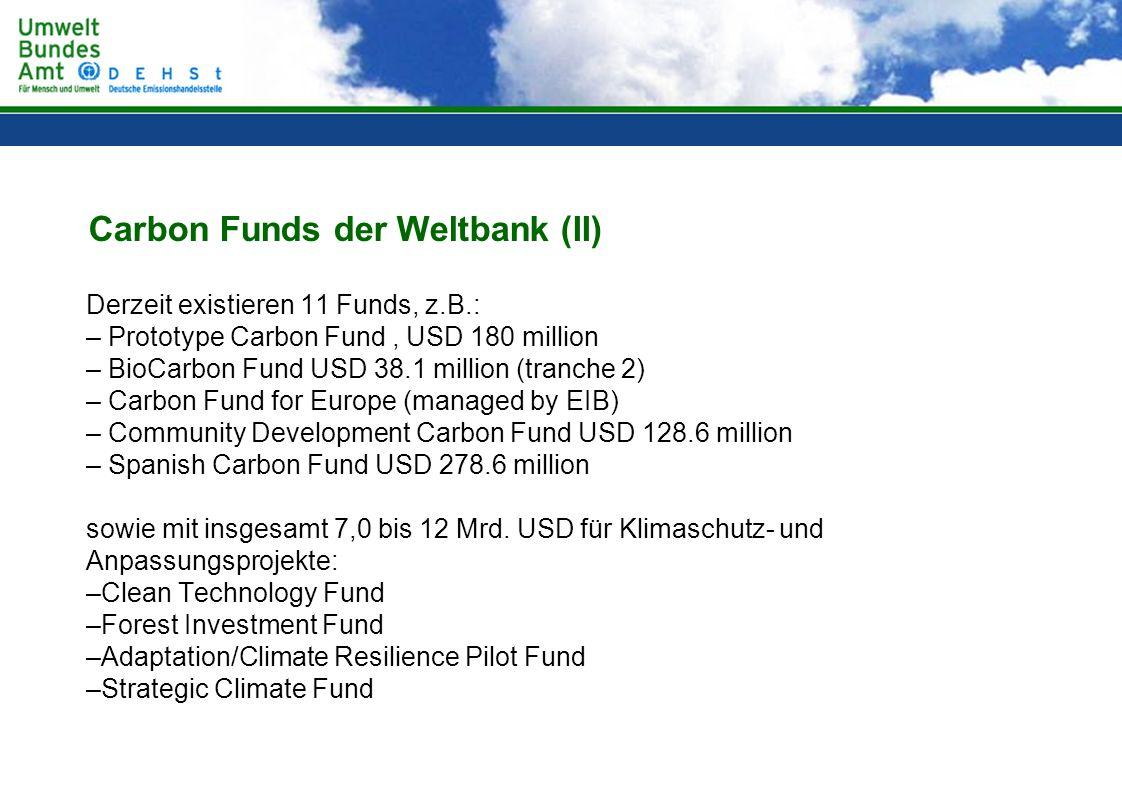 Carbon Funds der Weltbank (II)
