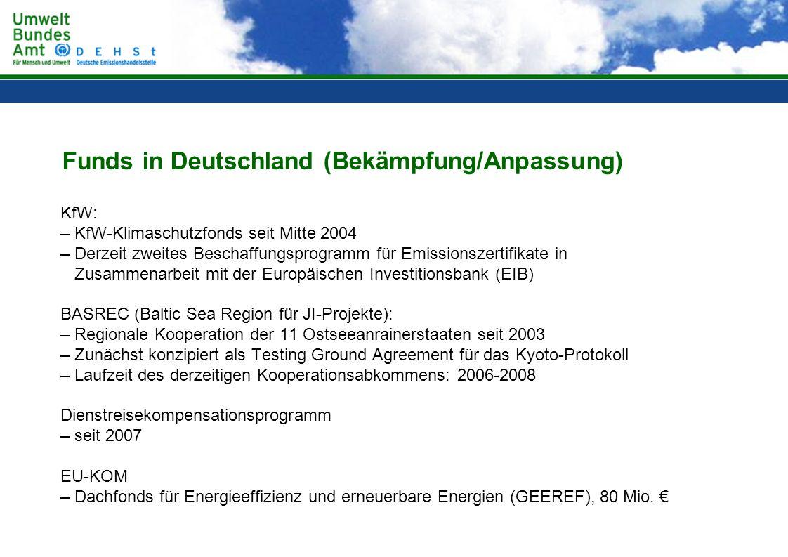 Funds in Deutschland (Bekämpfung/Anpassung)