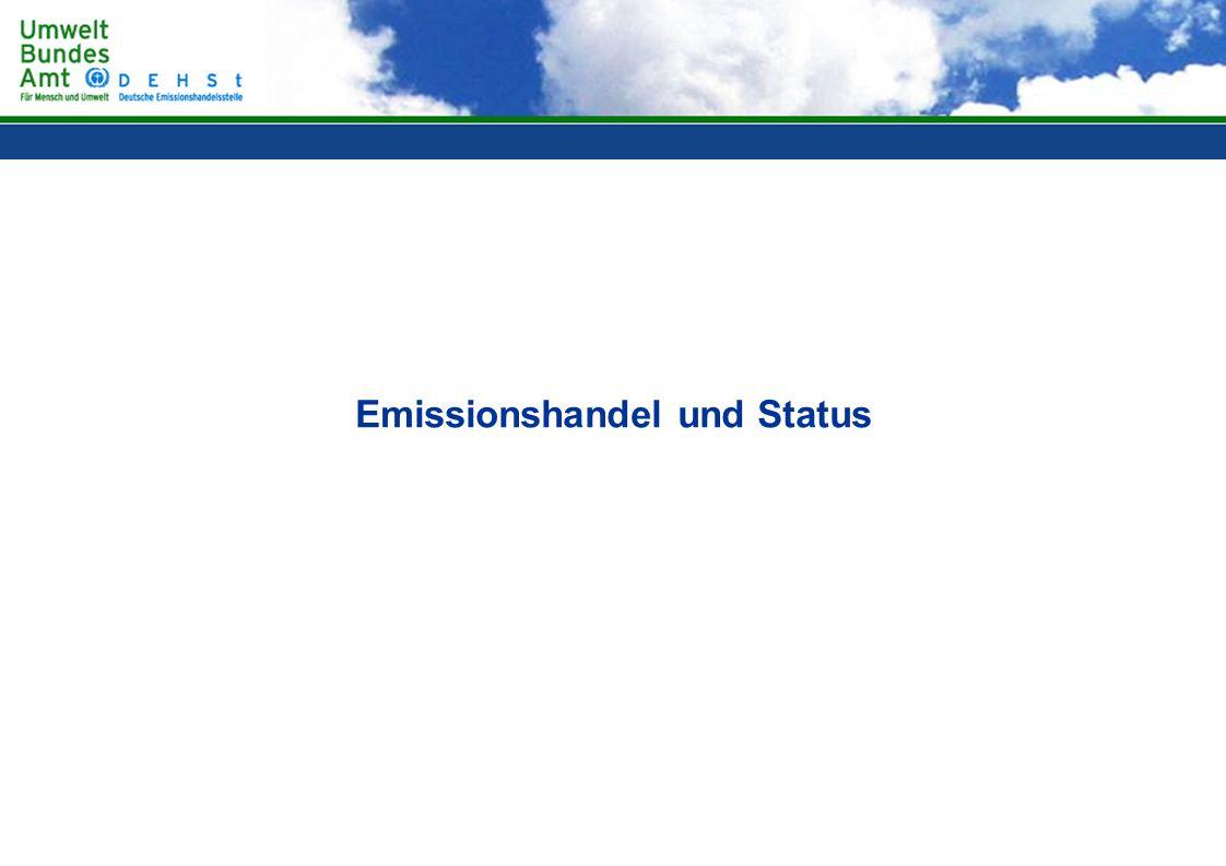 Emissionshandel und Status