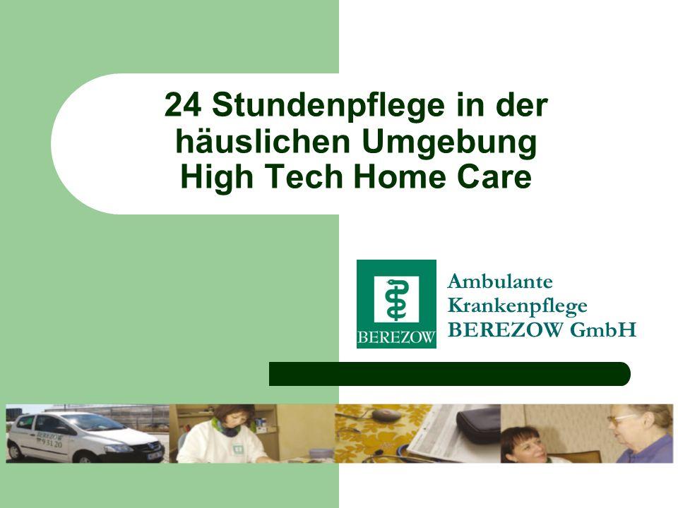 24 Stundenpflege in der häuslichen Umgebung High Tech Home Care