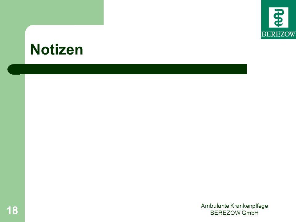 Ambulante Krankenplfege BEREZOW GmbH