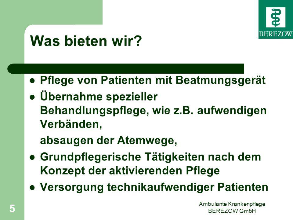 Ambulante Krankenpflege BEREZOW GmbH