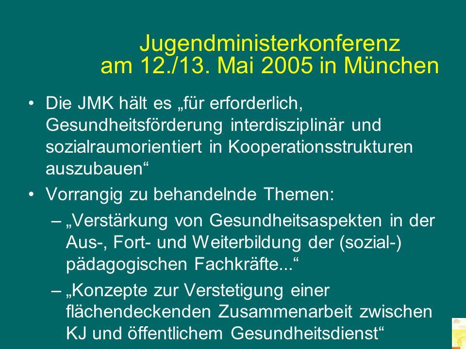 Jugendministerkonferenz am 12./13. Mai 2005 in München