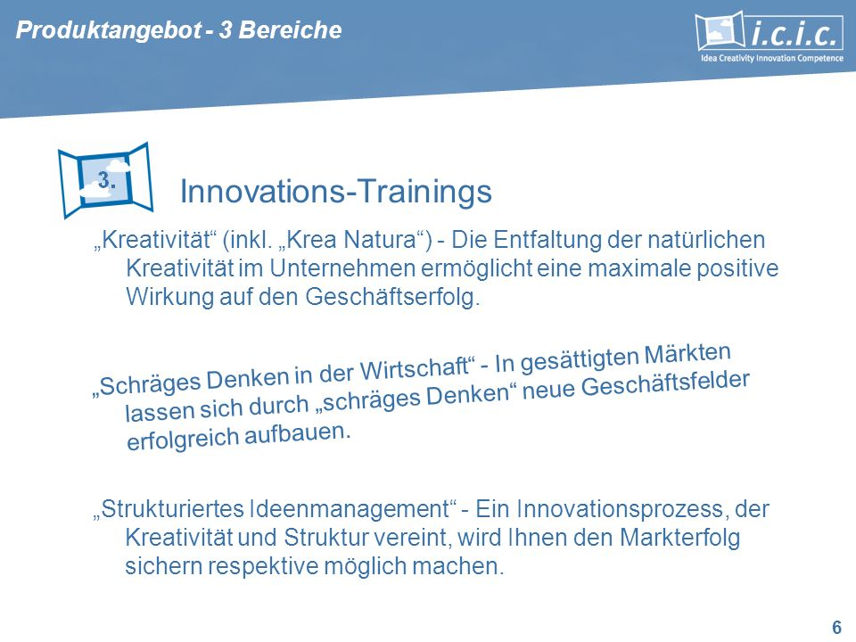 Innovations-Trainings