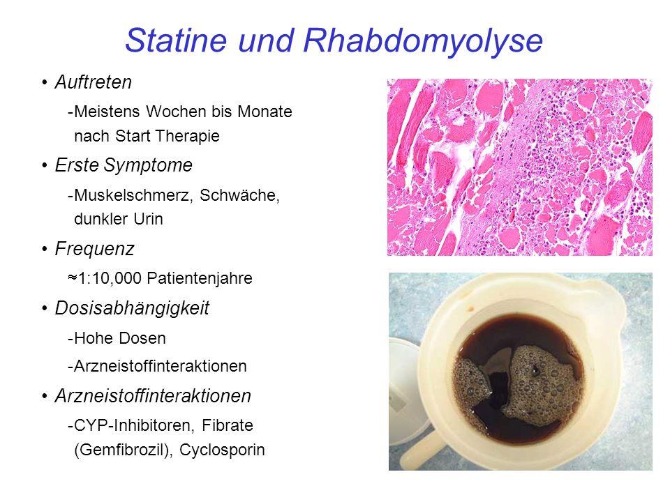 Statine und Rhabdomyolyse