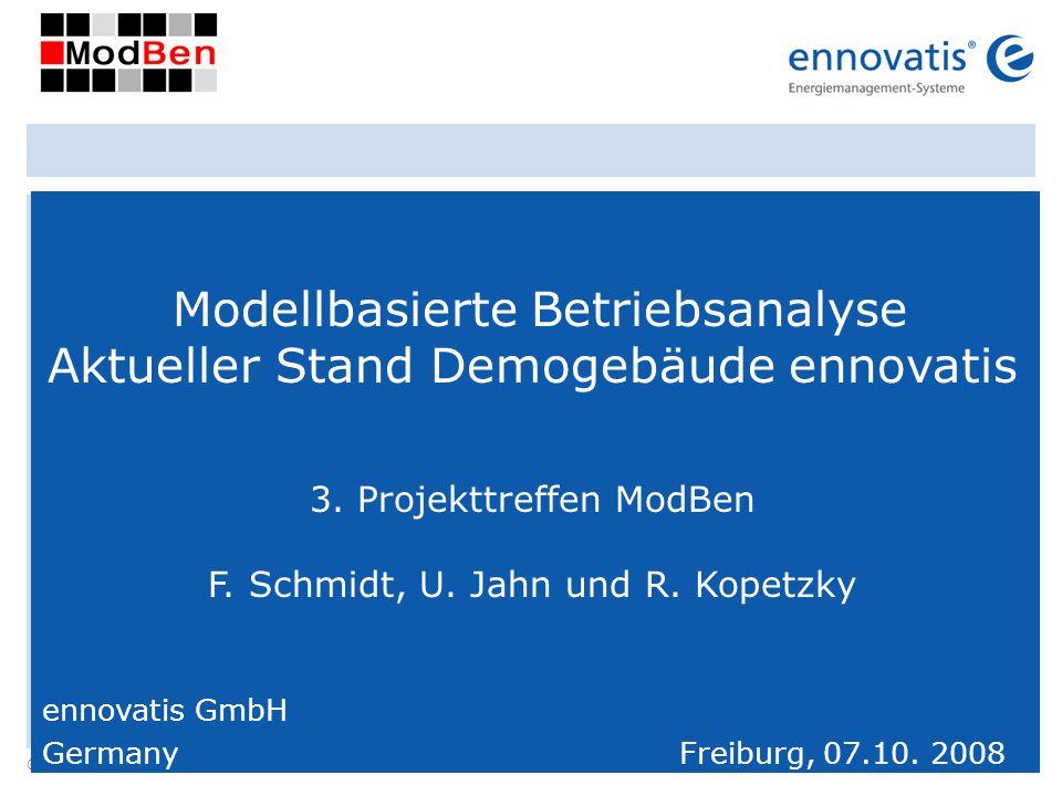 Modellbasierte Betriebsanalyse Aktueller Stand Demogebäude ennovatis