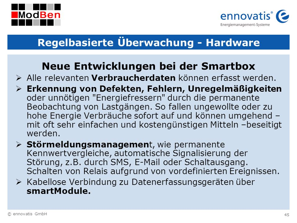 Regelbasierte Überwachung - Hardware