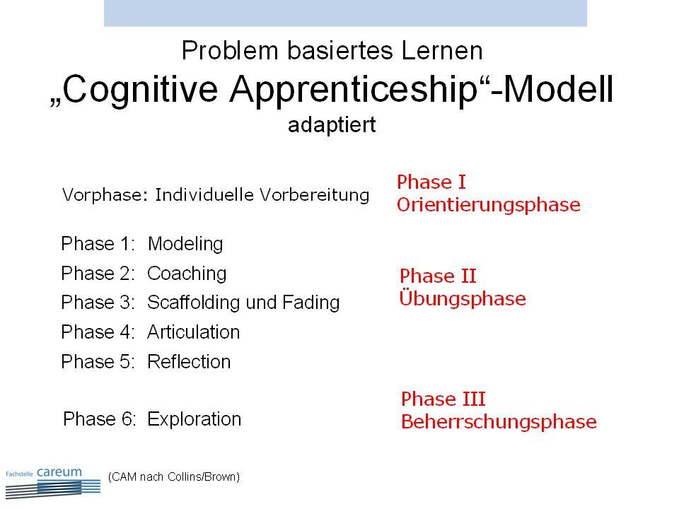 Das Lernen in der beruflichen Praxis ist grundsätzlich Problem basiert, da ja immer eine reale Alltagssituation im Zentrum steht.
