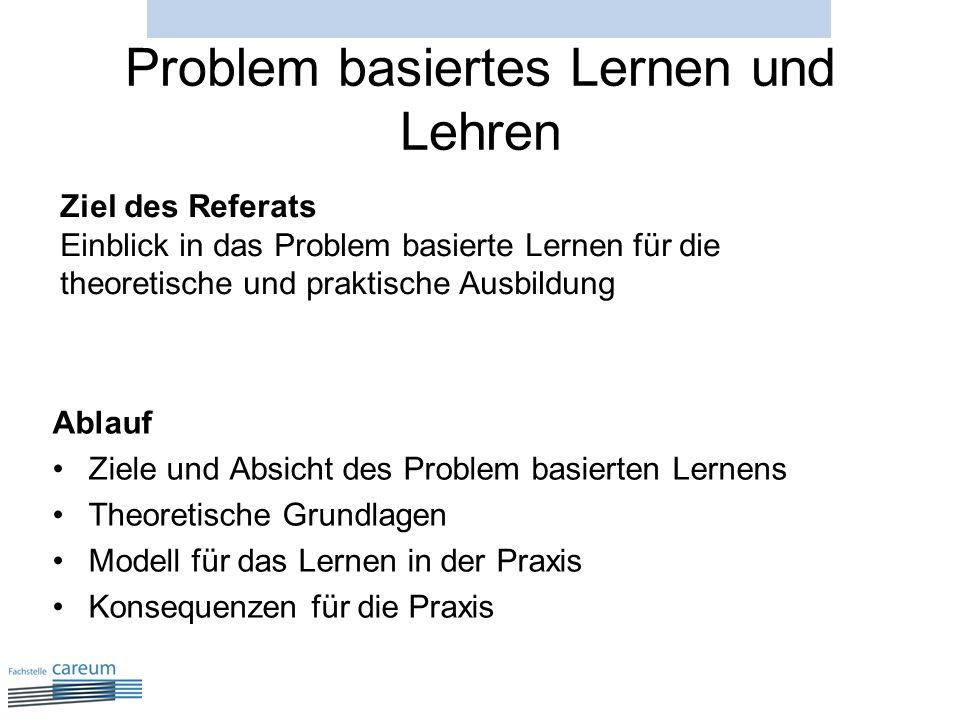 Problem basiertes Lernen und Lehren