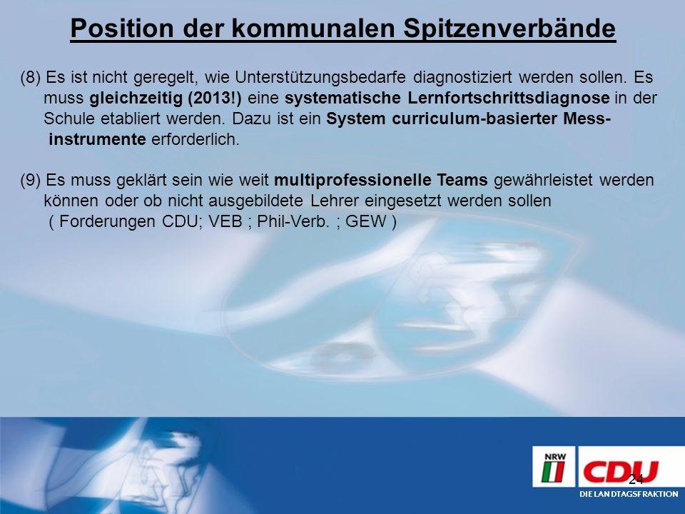 Position der kommunalen Spitzenverbände