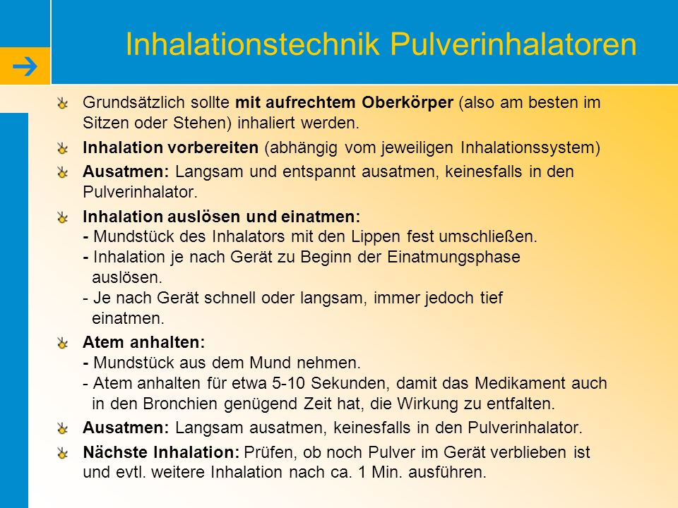 Inhalationstechnik Pulverinhalatoren