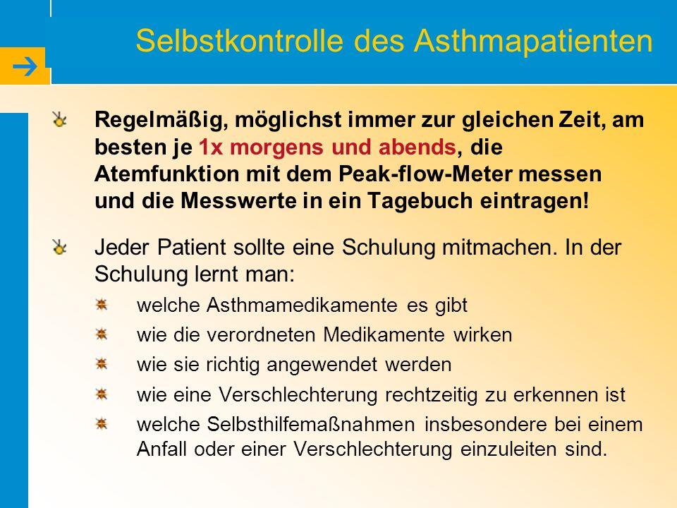 Selbstkontrolle des Asthmapatienten