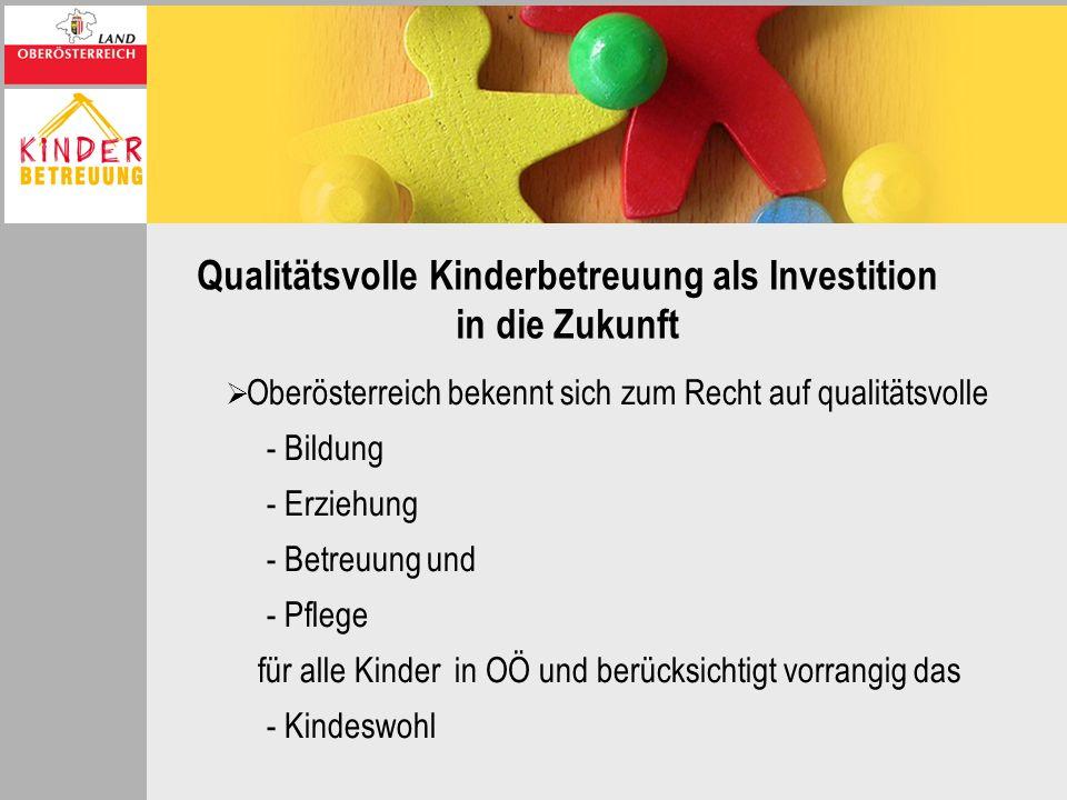 Qualitätsvolle Kinderbetreuung als Investition in die Zukunft