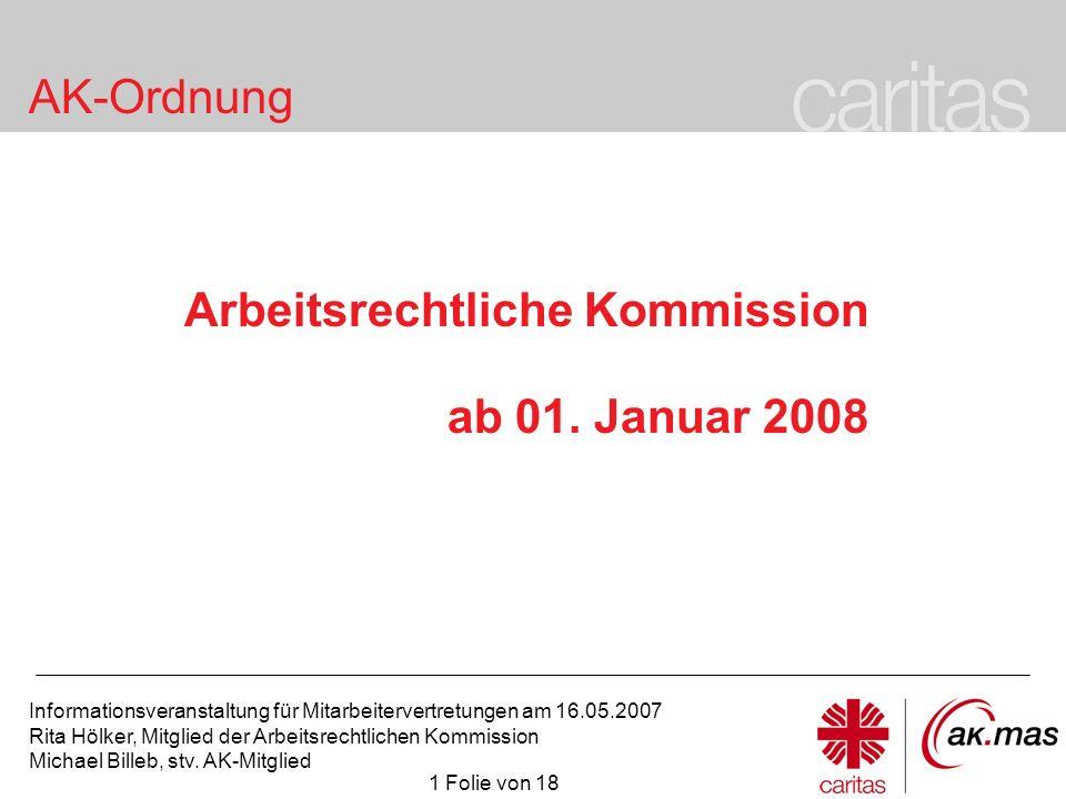 Arbeitsrechtliche Kommission ab 01. Januar 2008