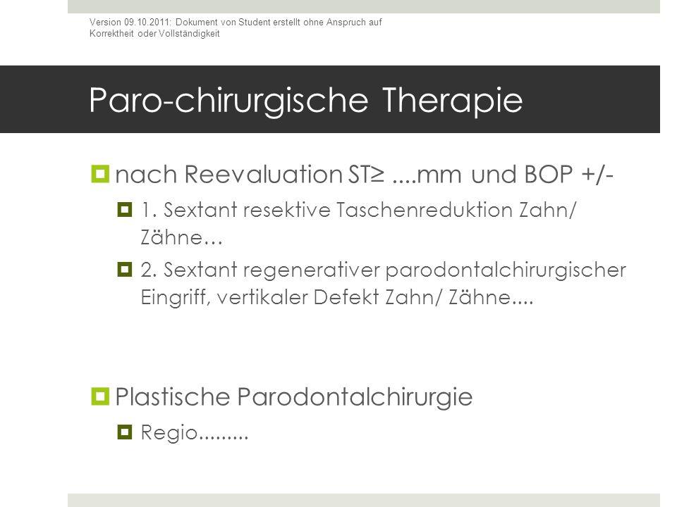 Paro-chirurgische Therapie