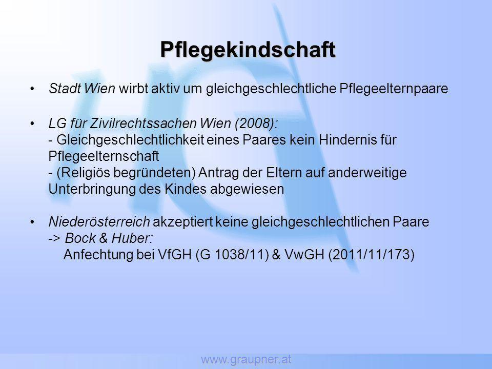 www.graupner.at Pflegekindschaft. Stadt Wien wirbt aktiv um gleichgeschlechtliche Pflegeelternpaare.