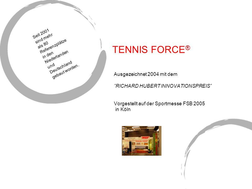 TENNIS FORCE® Ausgezeichnet 2004 mit dem