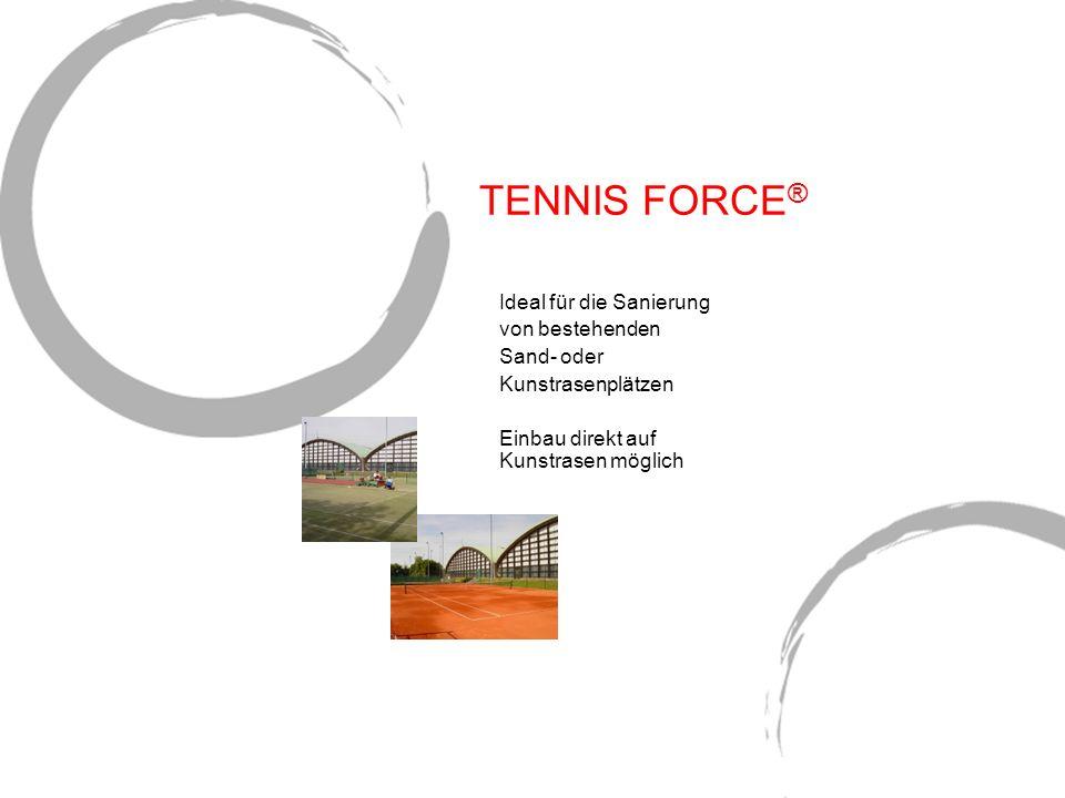 TENNIS FORCE® Ideal für die Sanierung von bestehenden Sand- oder