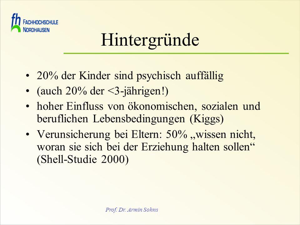 Hintergründe 20% der Kinder sind psychisch auffällig