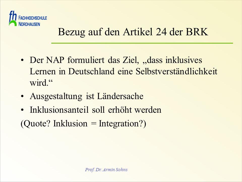 Bezug auf den Artikel 24 der BRK