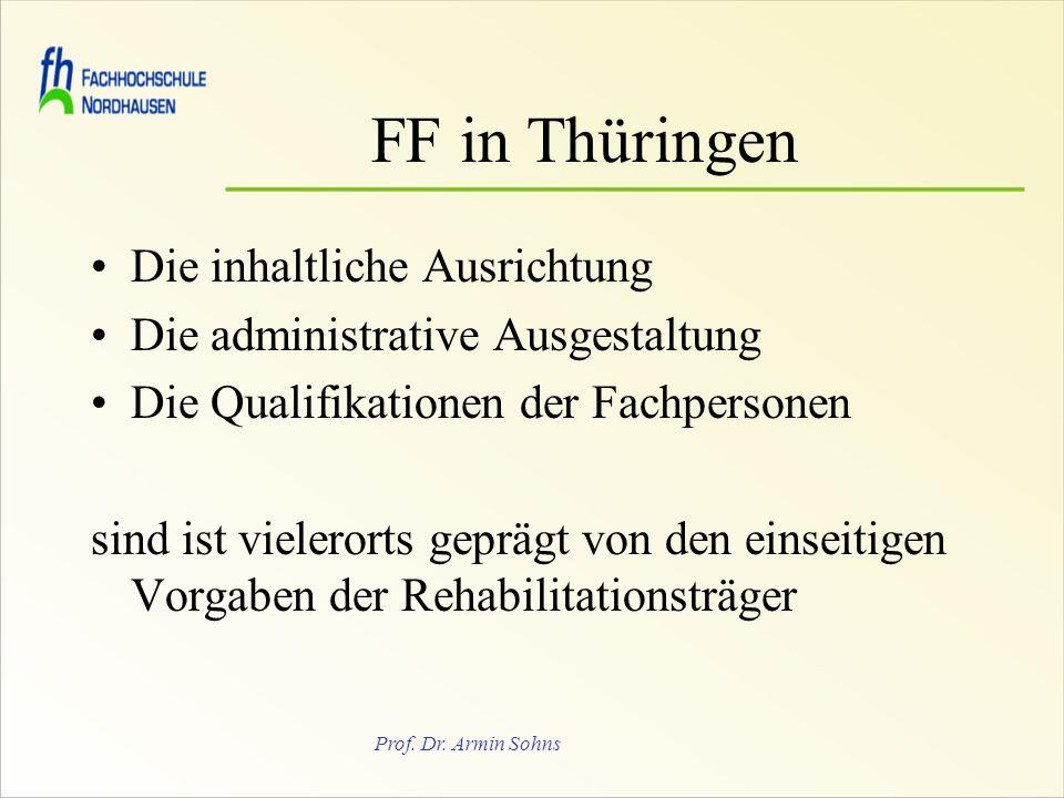 FF in Thüringen Die inhaltliche Ausrichtung
