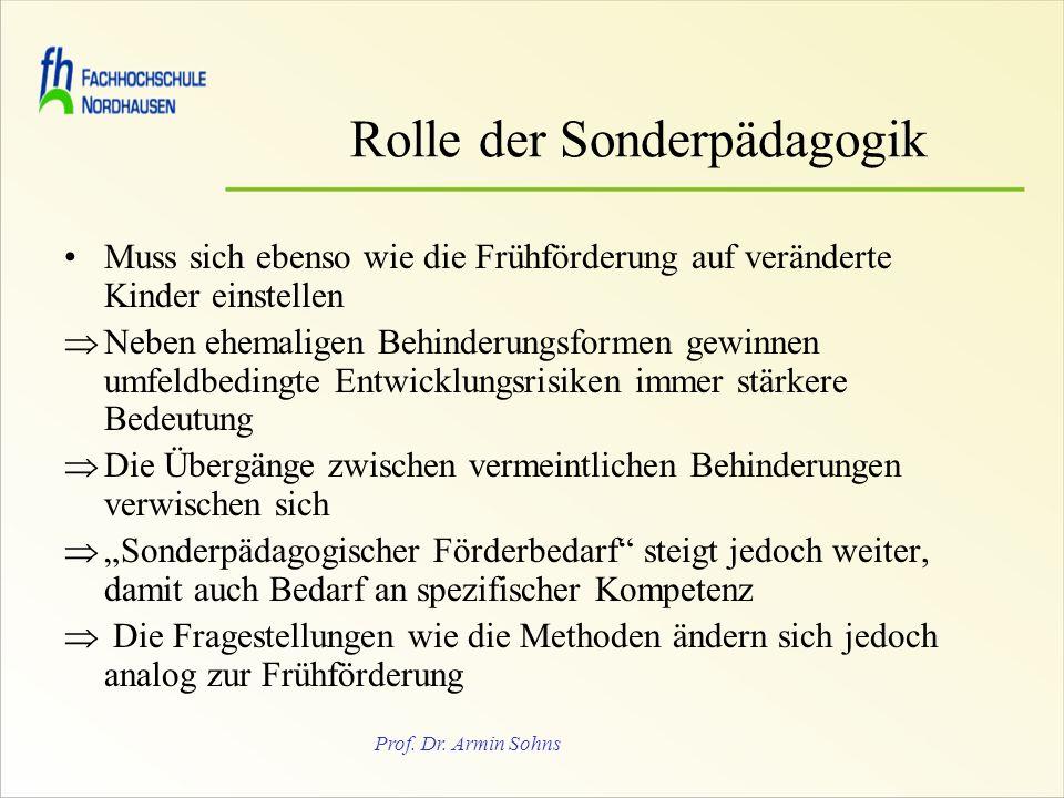 Rolle der Sonderpädagogik