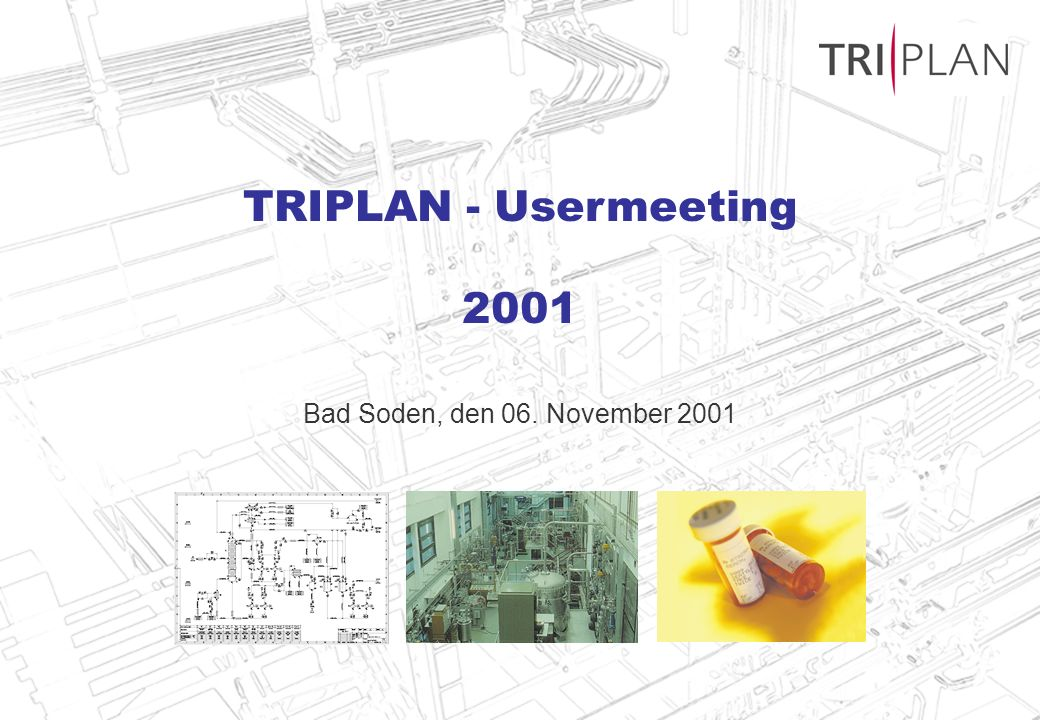 TRIPLAN - Usermeeting 2001 Bad Soden, den 06. November 2001