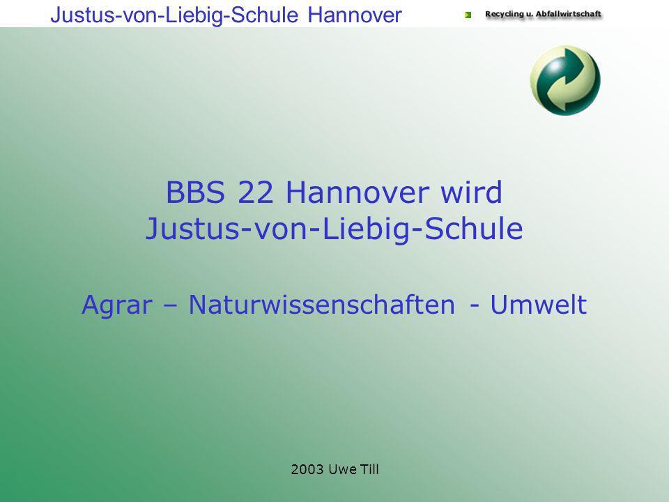BBS 22 Hannover wird Justus-von-Liebig-Schule