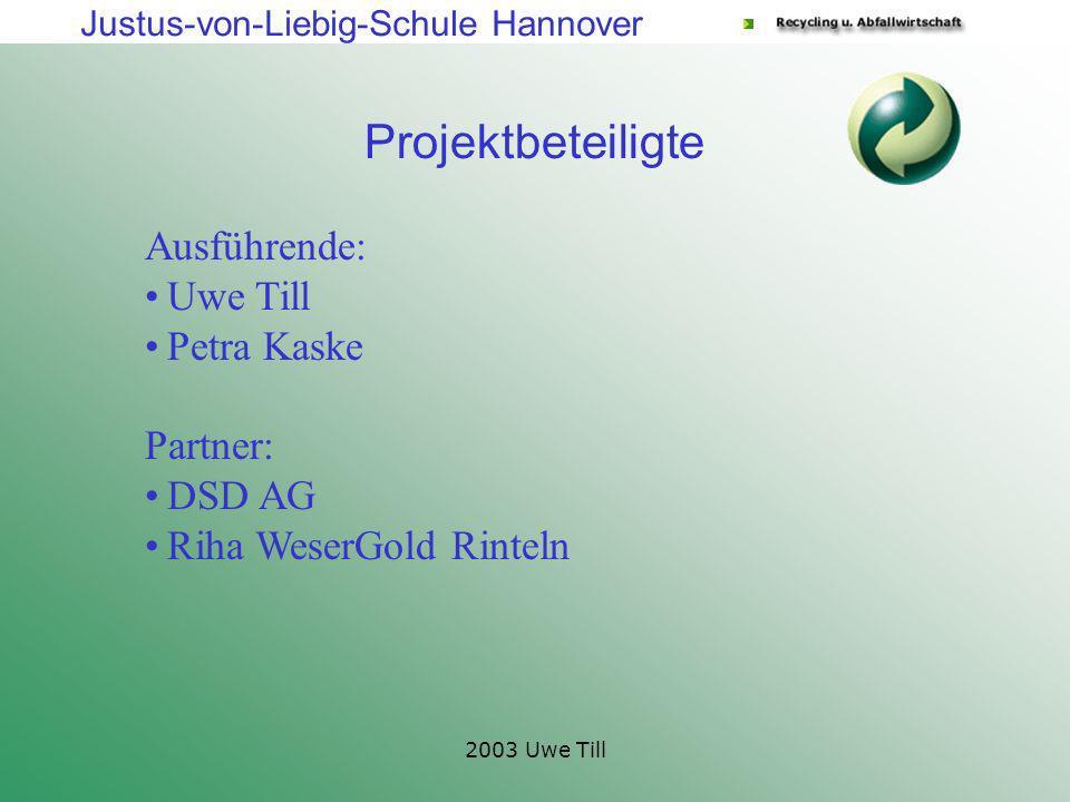 Projektbeteiligte Ausführende: Uwe Till Petra Kaske Partner: DSD AG