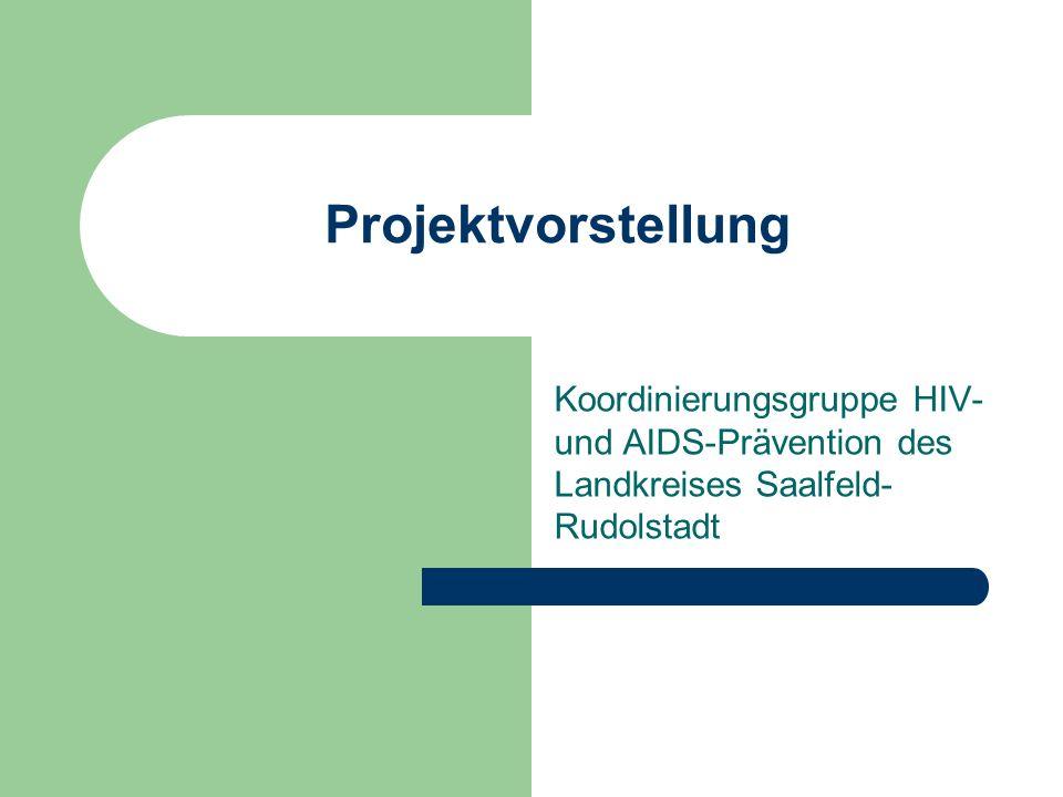 Projektvorstellung Koordinierungsgruppe HIV- und AIDS-Prävention des Landkreises Saalfeld-Rudolstadt.