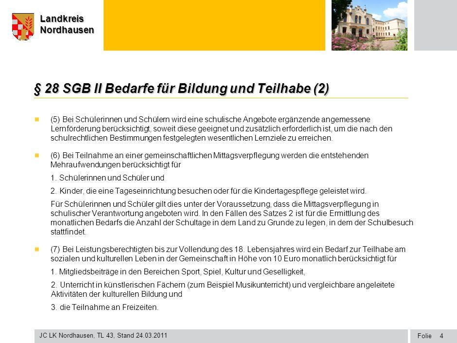 § 28 SGB II Bedarfe für Bildung und Teilhabe (2)