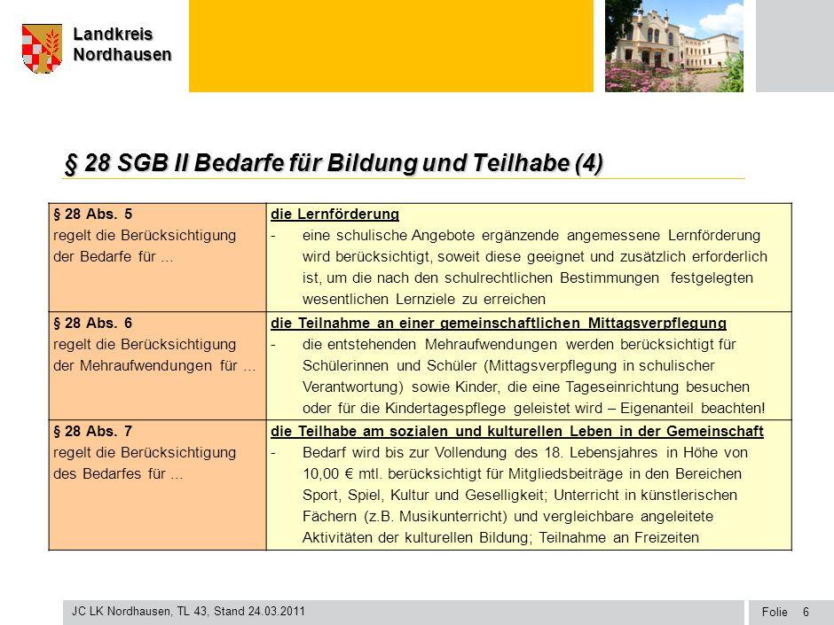 § 28 SGB II Bedarfe für Bildung und Teilhabe (4)