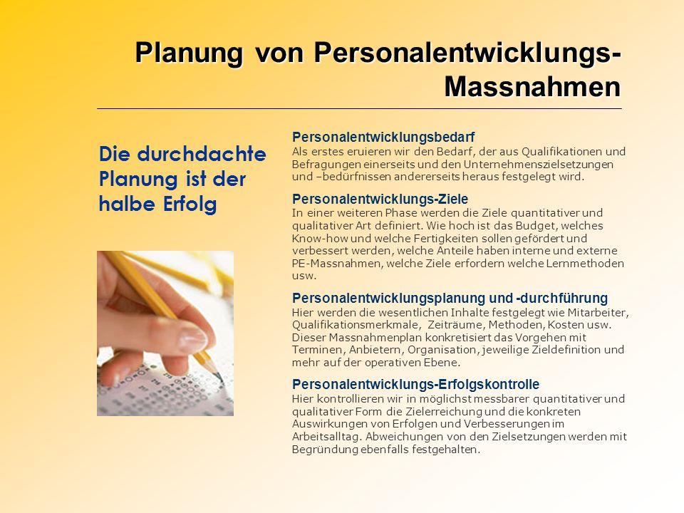 Planung von Personalentwicklungs-Massnahmen
