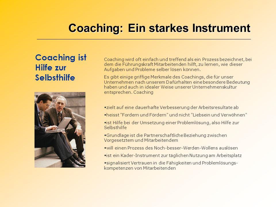 Coaching: Ein starkes Instrument