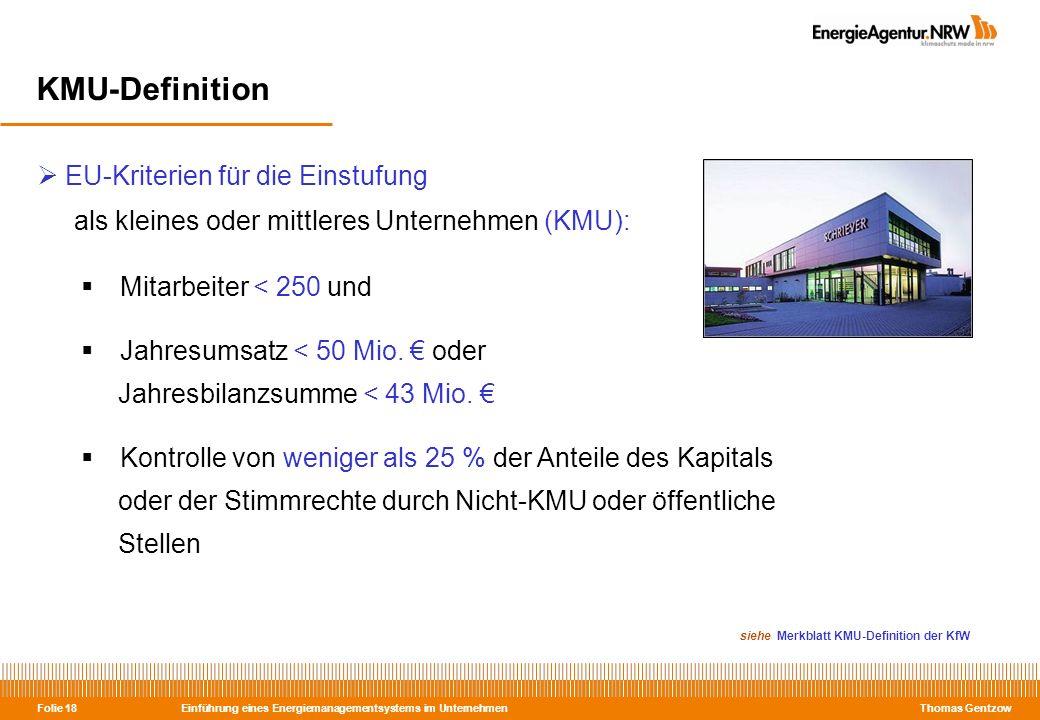 KMU-Definition als kleines oder mittleres Unternehmen (KMU):