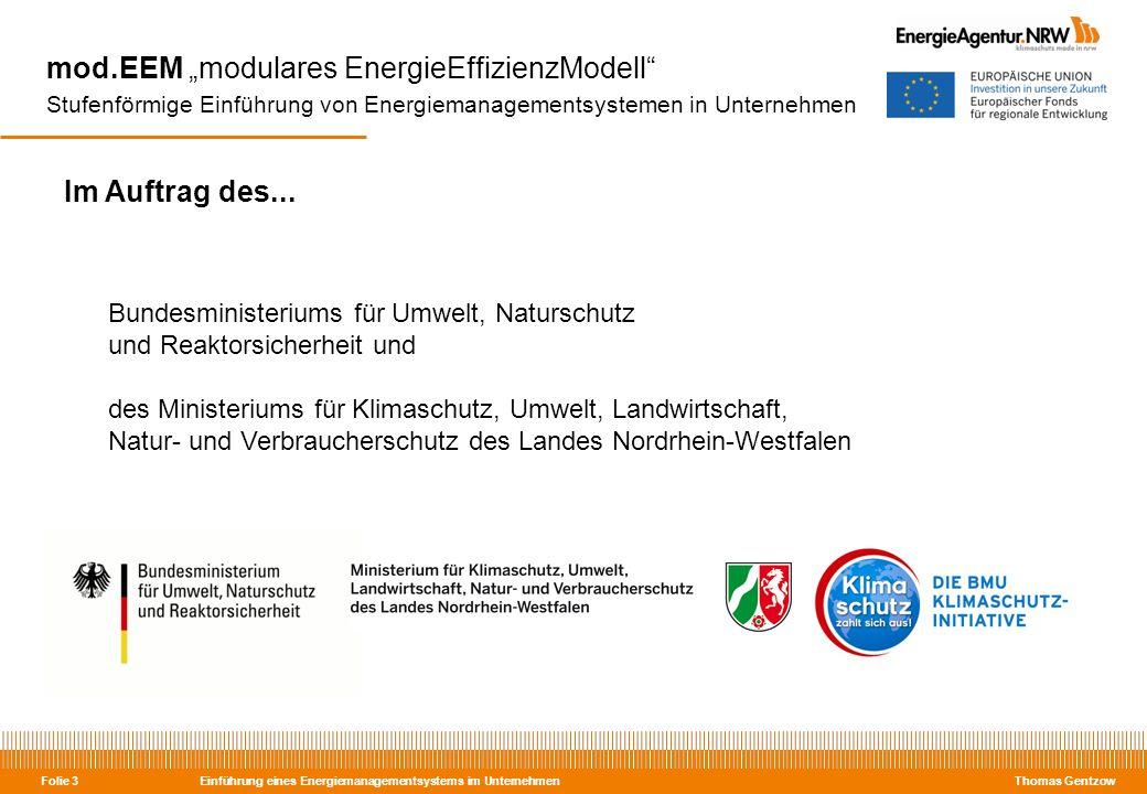 """mod.EEM """"modulares EnergieEffizienzModell Stufenförmige Einführung von Energiemanagementsystemen in Unternehmen"""