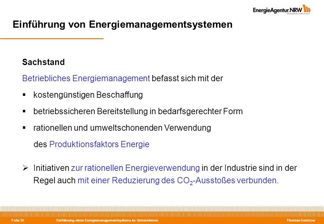 Einführung von Energiemanagementsystemen