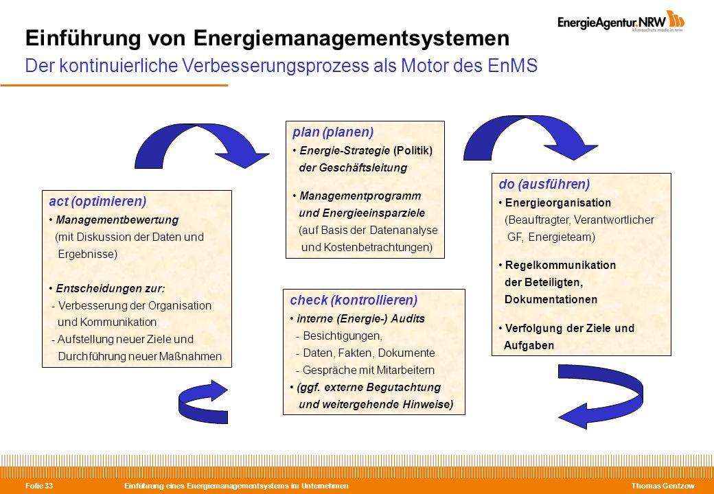 Einführung von Energiemanagementsystemen Der kontinuierliche Verbesserungsprozess als Motor des EnMS