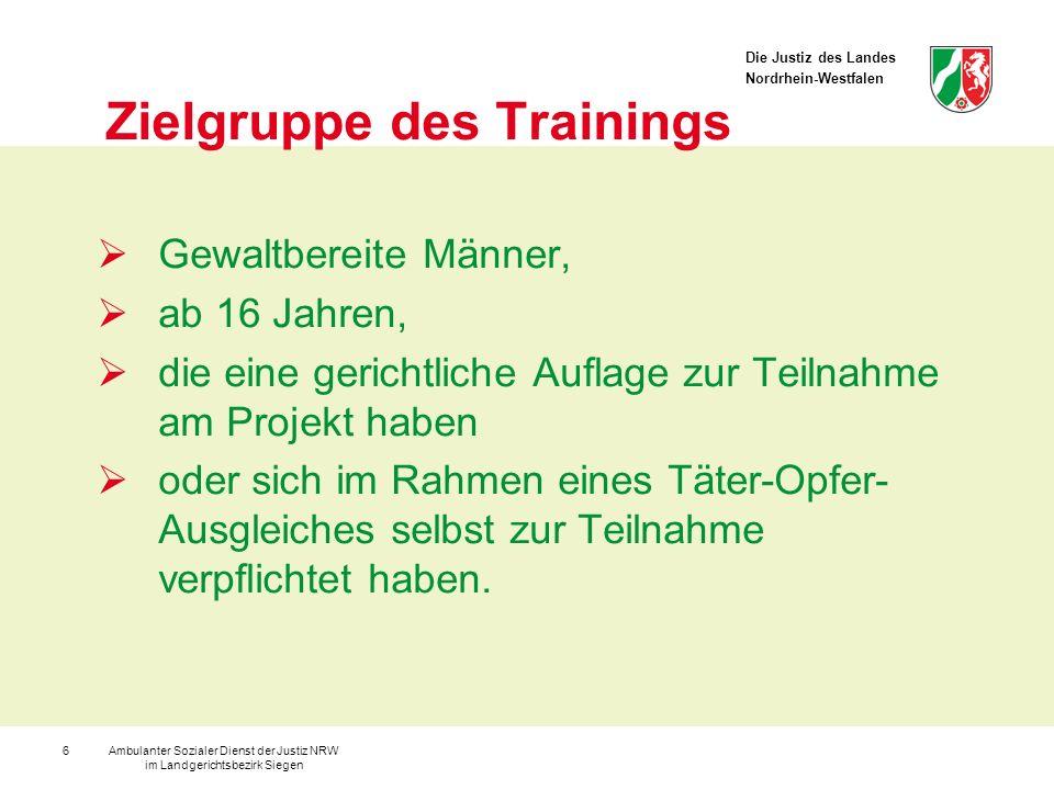 Zielgruppe des Trainings