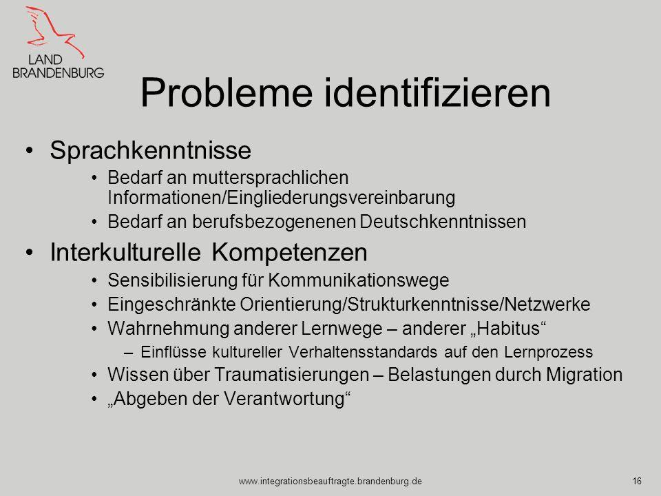 Probleme identifizieren
