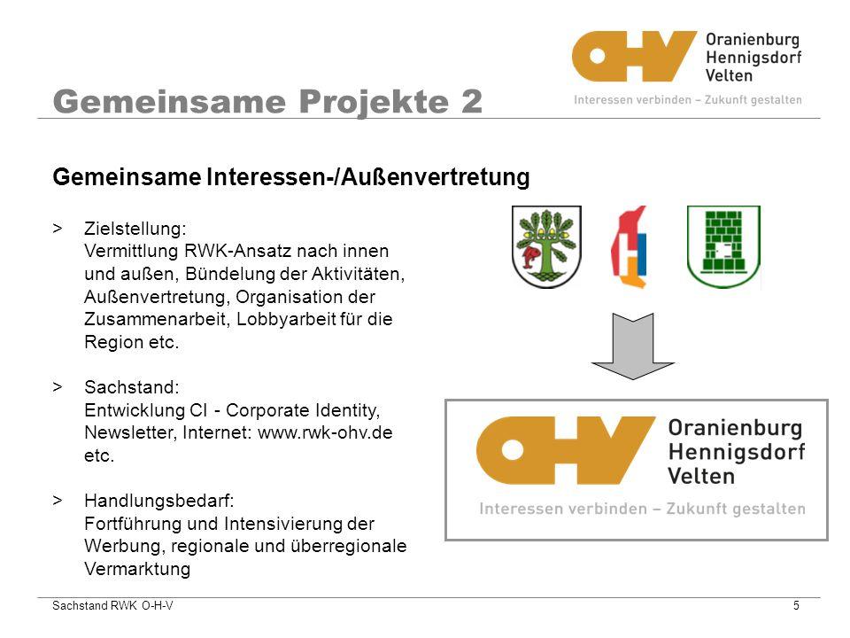 Gemeinsame Projekte 2 Gemeinsame Interessen-/Außenvertretung