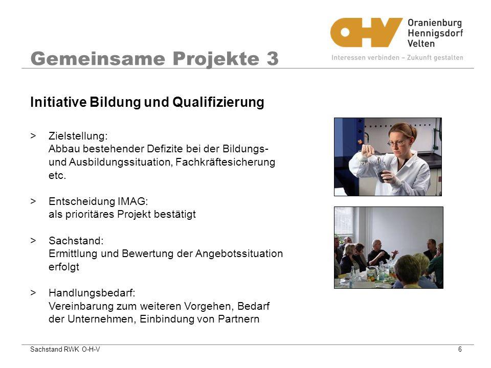 Gemeinsame Projekte 3 Initiative Bildung und Qualifizierung