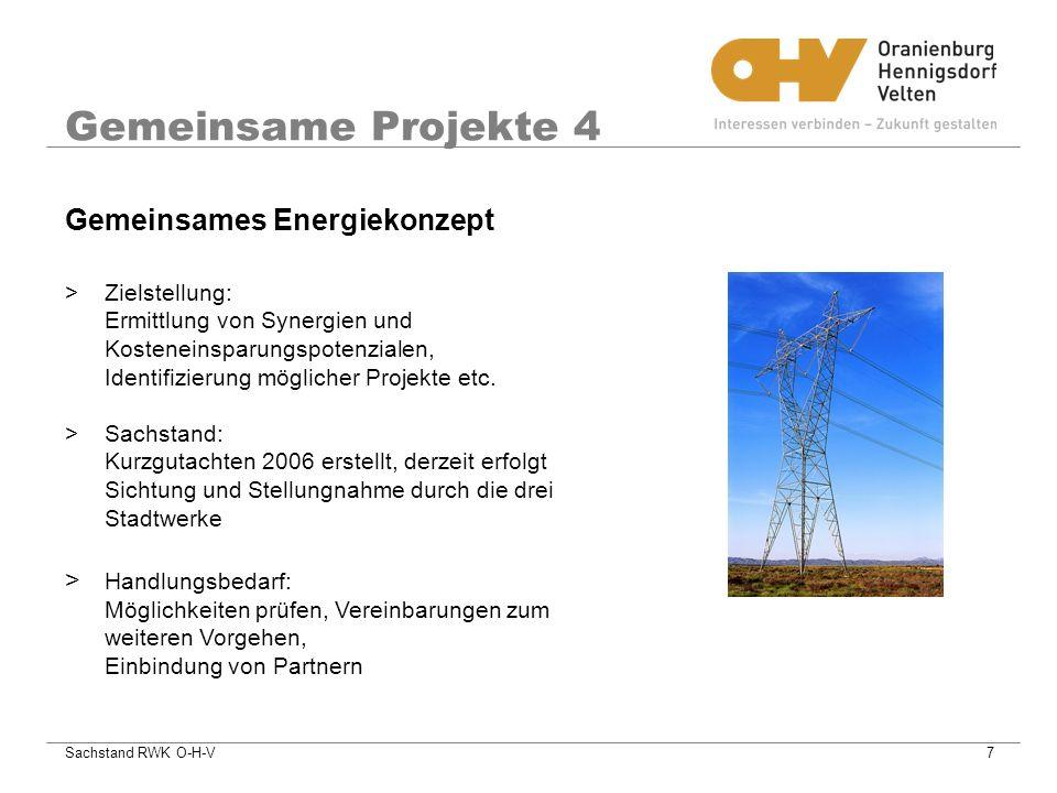 Gemeinsame Projekte 4 Gemeinsames Energiekonzept