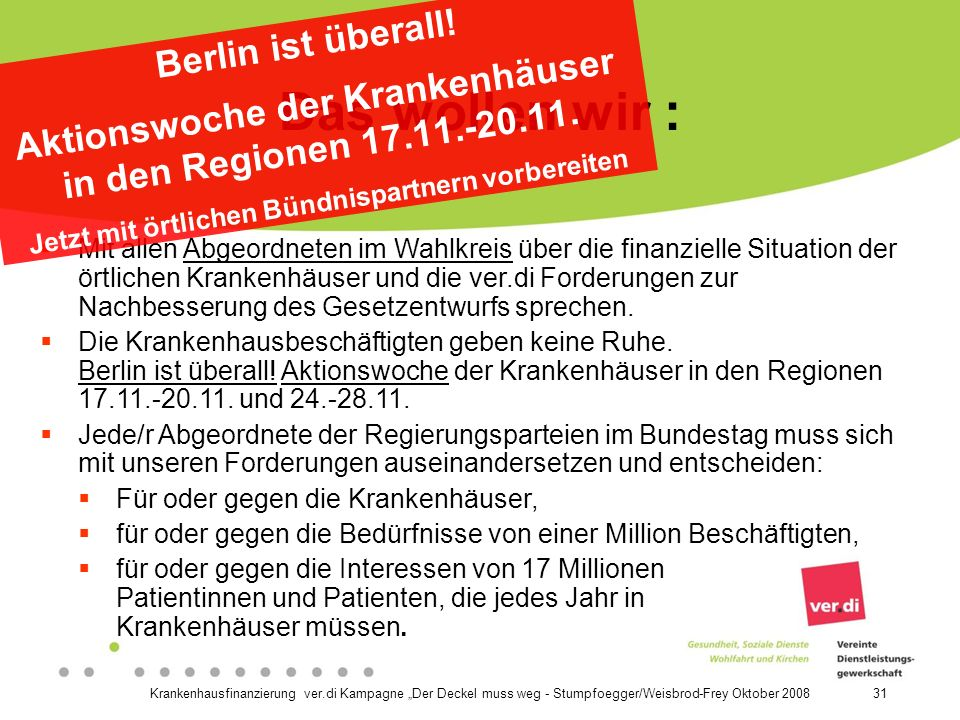 Das wollen wir : Berlin ist überall!