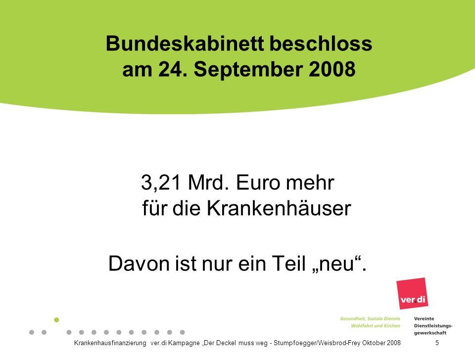 Bundeskabinett beschloss am 24. September 2008