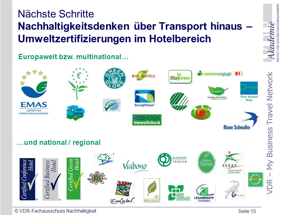 Europaweit bzw. multinational… …und national / regional