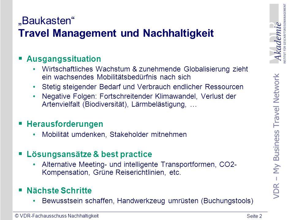 """""""Baukasten Travel Management und Nachhaltigkeit"""